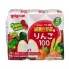ピジョン 緑黄色野菜&りんご100 (125ml×3)  5、6ヶ月頃から