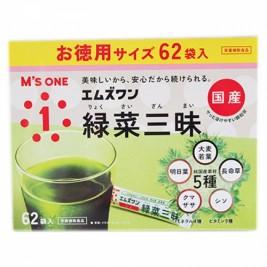 エムズワン 緑菜三昧 62本【純国産素材青汁】