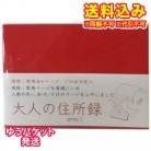 【ゆうパケット送料込み】HF大人の住所録 A6 赤