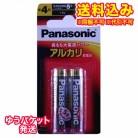 【ゆうパケット送料込み】パナソニック アルカリ電池単4 (2本パック)