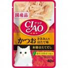 いなば CIAOパウチ かつお ささみ入り ほたて味 40g