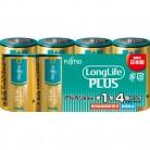富士通 ロングライフプラス 単1-4個 LR20LP(4S)※取り寄せ商品 返品不可