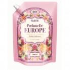 香りサフロン柔軟剤パフュームドヨーロッパ ローズブーケの香り大容量 1000ml×2個